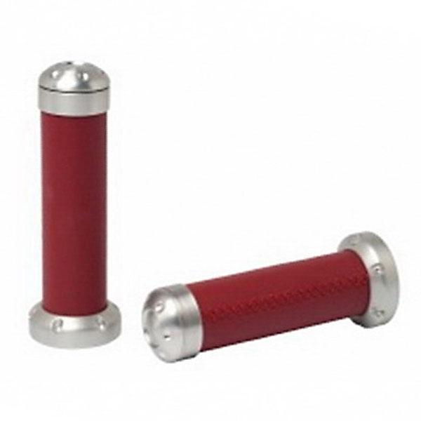 Designové rukojeti červená kůže pro Vespa 946