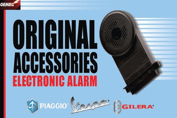 Elektronický alarm E1 pro nízkoobsahové Vespy