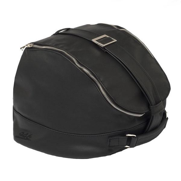 Taška na helmu černá kůže pro Vespa 946