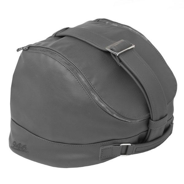 Taška na helmu šedá kůže pro Vespa 946